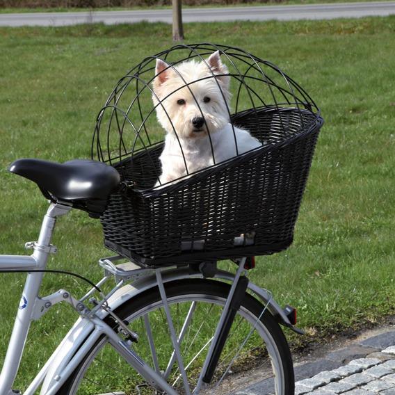 Fahrradkorb für Hunde mit Gitter 35 × 49 × 55 cm - schwarz