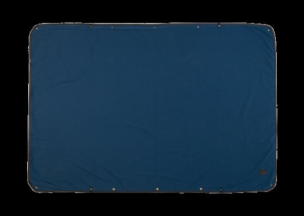 Blanket Solid Navy Kachula