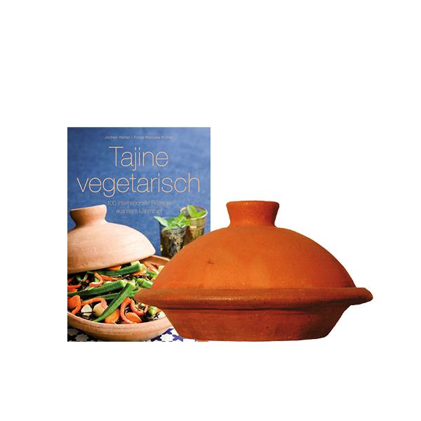 Tajine avec livre de recettes végétariennes